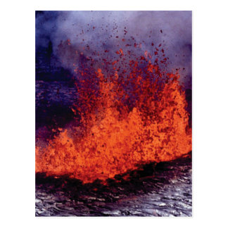 fissure of lava crack postcard