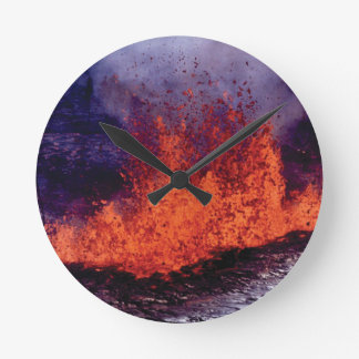 fissure of lava crack round clock