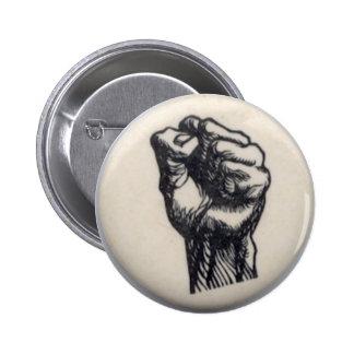 Fist 6 Cm Round Badge