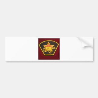 fist and red star bumper sticker