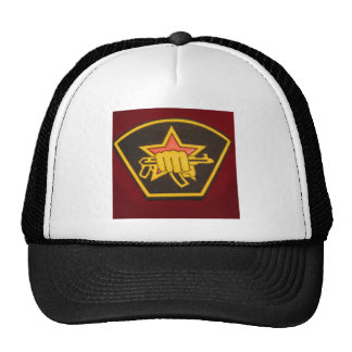 fist and red star cap
