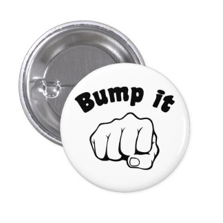 Fist Bump It 3 Cm Round Badge