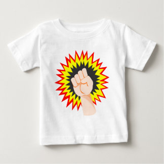 Fist Hand Strength Arm Power Energy Punch Baby T-Shirt