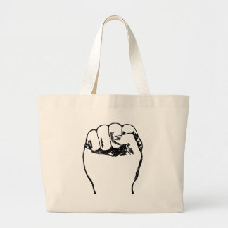 Fist in the air large tote bag