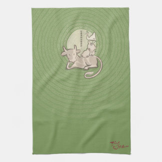 Fist of Kitchen Official Tea Towl Tea Towel