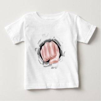 Fist Punching Through White Background Baby T-Shirt