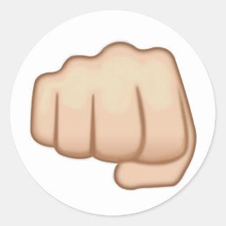 Fisted Hand Sign Emoji Classic Round Sticker