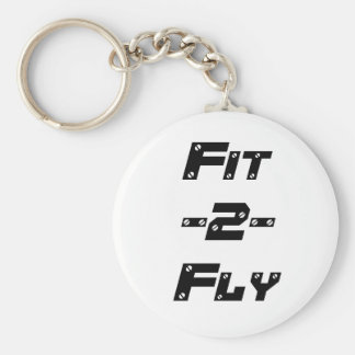 Fit 2 Fly Keychain