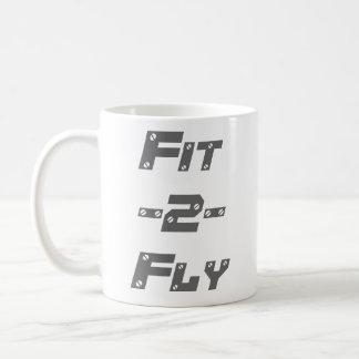 Fit 2 Fly Mug Double Logo