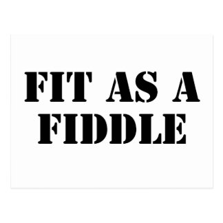 Fit As A Fiddle Postcard