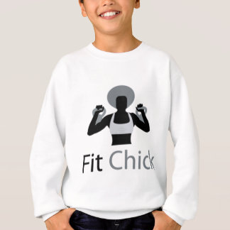 Fit Chick with Afro holding kettlebells Sweatshirt