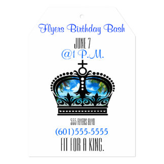 "Fit for a King 5"" X 7"" Invitation Card"