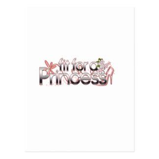 Fit for a Princess Girl Glass Slipper Postcard