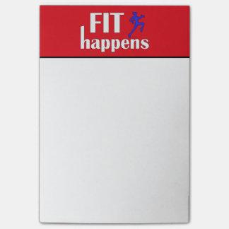 Fit Happens Workout Motivation Post-it Notes