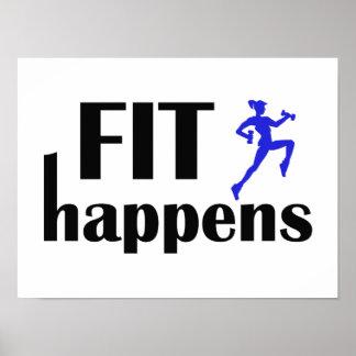 Fit Happens Workout Motivation Posters