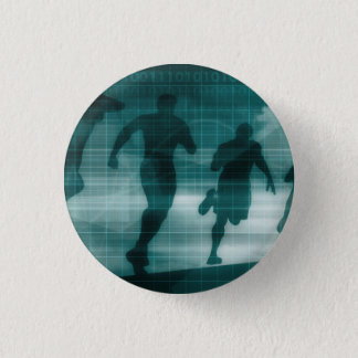 Fitness App Tracker Software Silhouette 3 Cm Round Badge