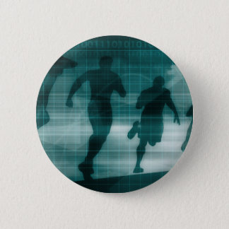Fitness App Tracker Software Silhouette 6 Cm Round Badge