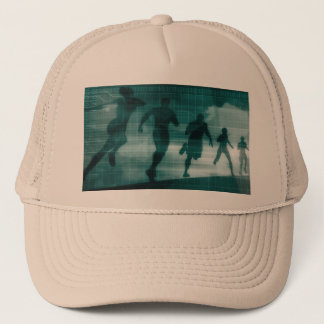 Fitness App Tracker Software Silhouette Cap