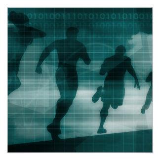 Fitness App Tracker Software Silhouette Illustrati