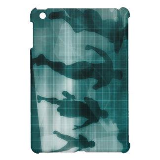 Fitness App Tracker Software Silhouette Illustrati iPad Mini Cover