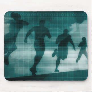 Fitness App Tracker Software Silhouette Illustrati Mouse Pad