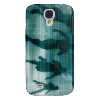 Fitness App Tracker Software Silhouette Illustrati Samsung Galaxy S4 Cover
