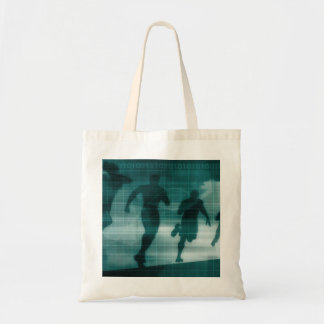 Fitness App Tracker Software Silhouette Illustrati Tote Bag