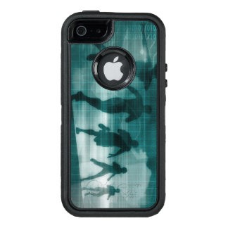 Fitness App Tracker Software Silhouette OtterBox Defender iPhone Case