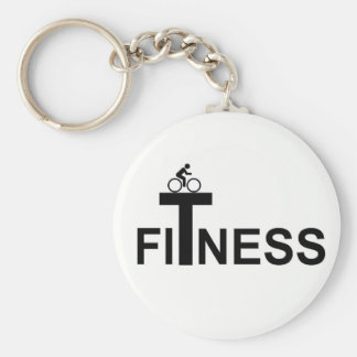Fitness Basic Round Button Key Ring