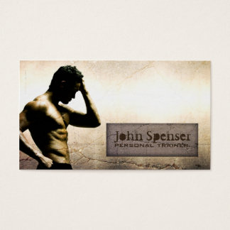 Fitness- Body Building Business Card