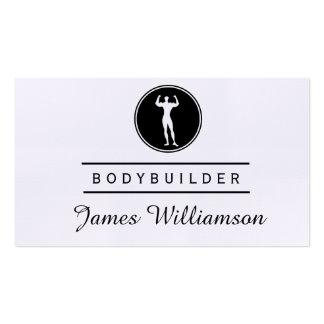 Fitness BODYBUILDER Logo Gym Sports Athlete Pack Of Standard Business Cards