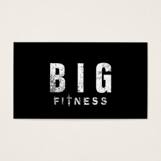 Fitness Bodybuilding Trainer Bold Grunge Text Business Card