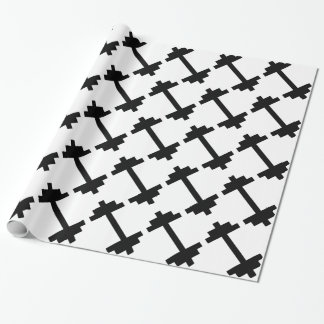 Fitness Center Dumbbell Wrapping Paper