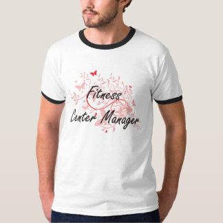 Fitness Center Manager Artistic Job Design with Bu T-shirt