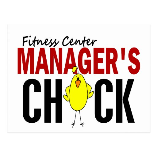 Fitness Center Manager's Chick Postcards