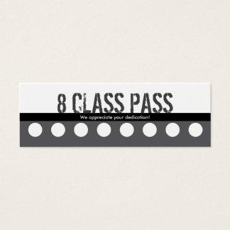 Fitness Class Business Card 8 Class Pass Card