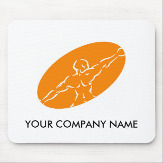 Fitness Customizable Mousepad - Orange