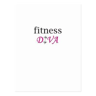 fitness diva postcard