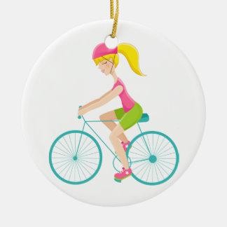 Fitness! Exercise - Biking - SRF Ceramic Ornament