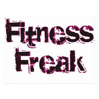 Fitness Freak - Black/Pink Postcard