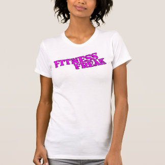 Fitness Freak Ladies Spaghetti Top (Fitted), White Tshirt
