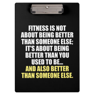 Fitness Funny Motivational Clipboard
