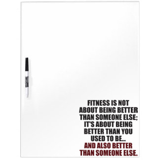 Fitness Funny Motivational Dry Erase Board