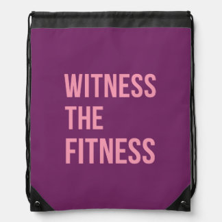 Fitness Funny Quote Pretty Purple Pink Backpack