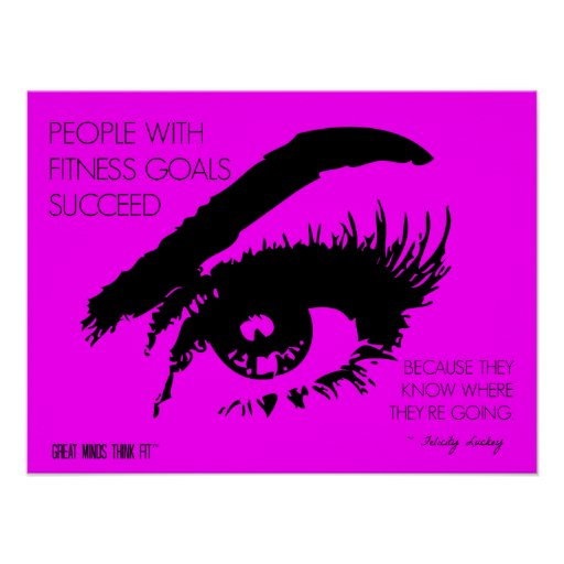 Fitness Goals Eye See: Quote 03 in Pink Posters