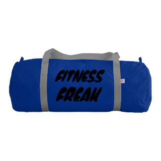 Fitness Gym Bag, Regatta Blue with Silver straps Gym Duffel Bag