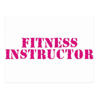 Fitness Instructor Pink Postcards