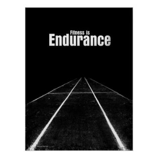 Fitness Is - Endurance Poster