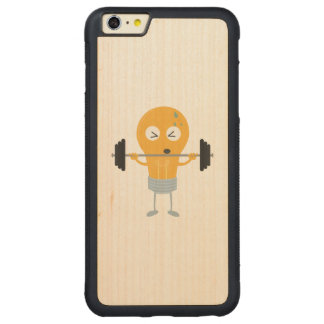 Fitness light bulb with weight carved maple iPhone 6 plus bumper case