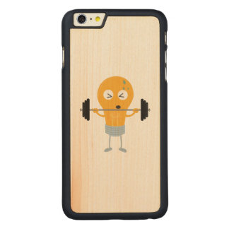 Fitness light bulb with weight carved maple iPhone 6 plus case